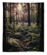 Woodland Trees Fleece Blanket