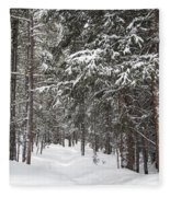 Woods In Winter Fleece Blanket