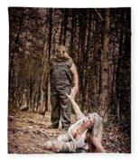 Woods Of Terror Fleece Blanket
