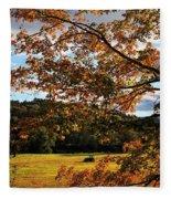 Woodstock Vermont Fleece Blanket