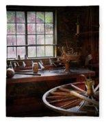 Woodworker - The Wheelwright Shop  Fleece Blanket