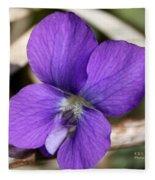 Woody Blue Violet Fleece Blanket