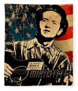 Woody Guthrie 1 Fleece Blanket