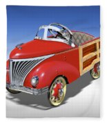 Woody Peddle Car Fleece Blanket