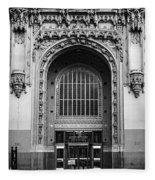 Woolworth Building Entrance Fleece Blanket