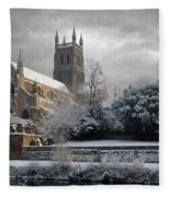 Worcester Cathedral Cloudy Fleece Blanket