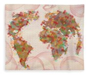 Word Map Digital Art Fleece Blanket
