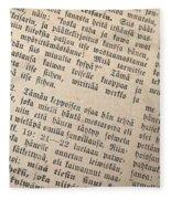 Words Of The Bible Fleece Blanket