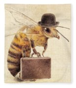 Worker Bee Fleece Blanket