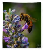 Worker Bee Fleece Blanket