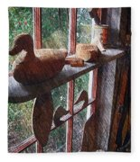 Workshop Window Fleece Blanket