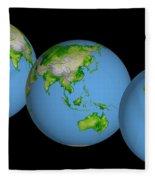 World Globes Fleece Blanket