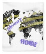 World Map Cool Fleece Blanket