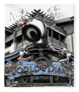World Of Disney Signage Downtown Disneyland Sc Fleece Blanket