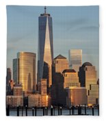 World Trade Center Freedom Tower Nyc Fleece Blanket