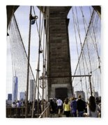 World Trade Center Through The Bridge Fleece Blanket