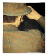 World War 1 Soldier Fleece Blanket