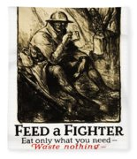 World War 1 - U. S. War Poster Fleece Blanket