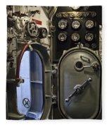 World War 2 Era Submarine Hatch - Pearl Harbor Fleece Blanket