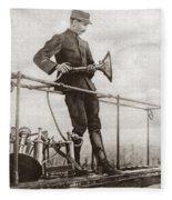 World War I Air Raid Siren Fleece Blanket