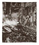 World War I Paris Bombed Fleece Blanket