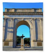 World War I Victory Arch Newport News Fleece Blanket