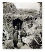 World War I: Wounded, 1918 Fleece Blanket