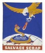 World War II 1939-1945 Anti Japanese Poster Sponsored By The Thirteenth Naval District Fleece Blanket