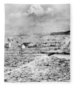 World War II Hiroshima Fleece Blanket