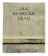 World War Two Our Glorious Dead Cenotaph Fleece Blanket