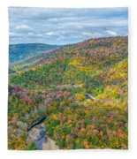 Worlds End State Park Lookout Fleece Blanket