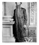 World's Longest Beard Fleece Blanket
