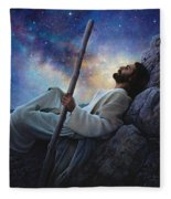 Worlds Without End Fleece Blanket by Greg Olsen
