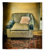 Worn Chair By Doorway Fleece Blanket