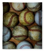 Worn Out Baseballs Fleece Blanket