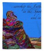 Worship The Father Fleece Blanket