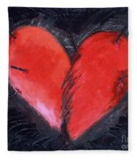 Wounded Heart Fleece Blanket