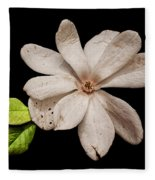 Wounded White Magnolia Wide Version Fleece Blanket
