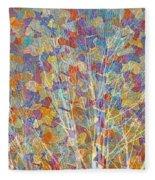 Woven Branches Long Fleece Blanket