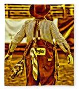 Wrangler Clown Fleece Blanket