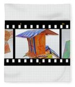 Wreckage Strip Fleece Blanket