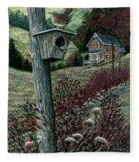 Wren House Fleece Blanket