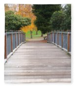 Wrights Park Bridge Fleece Blanket