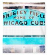 Wrigley Field Sign - X-ray Fleece Blanket