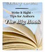 Write It Right - Tips For Authors - The Big Book Fleece Blanket