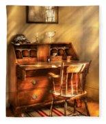Writer - A Chair And A Desk Fleece Blanket