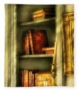 Writer - In The Library  Fleece Blanket