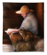 Writer - Writing In My Journal Fleece Blanket