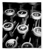 Writing The Great Novel - Black And White Fleece Blanket