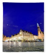 Wroclaw Poland Historical Market Square And The Town Hall Fleece Blanket
